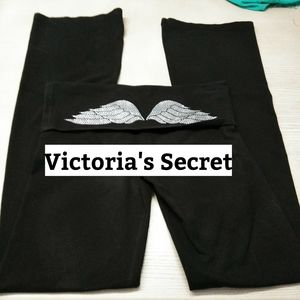Victoria's Secret black Wings W/Crystals Sz Reg